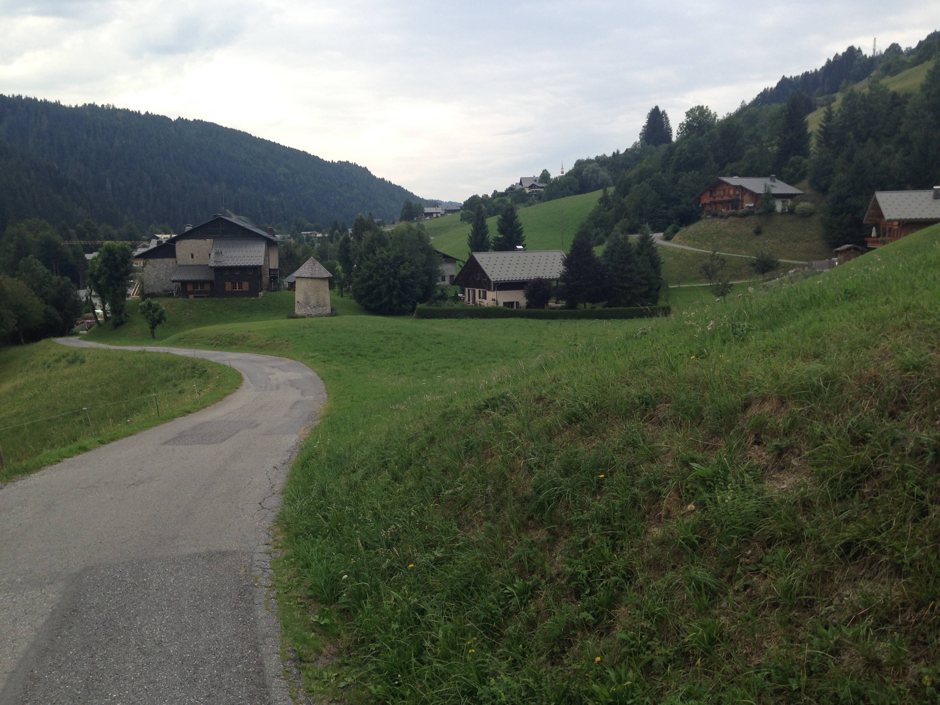 View of Chalet from road to St Nicolas